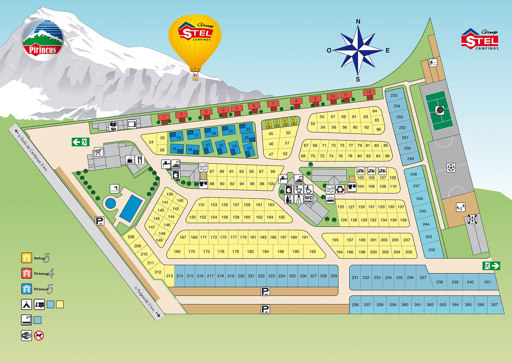 Mapa Stel Pirineus